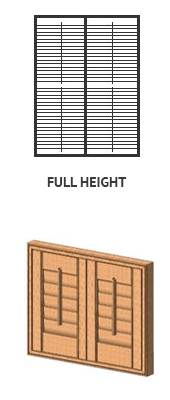 Shutters okiennice full height