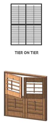 Shutters okiennice Special Tier on Tier